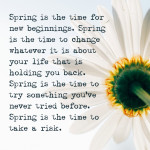 On spring & new beginnings.