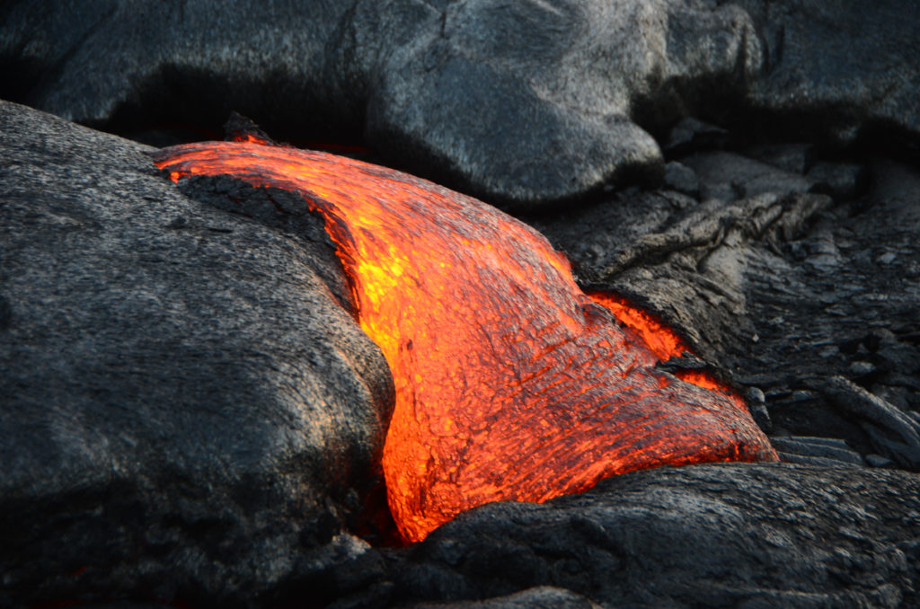 Hiking to see lava on the Big Island