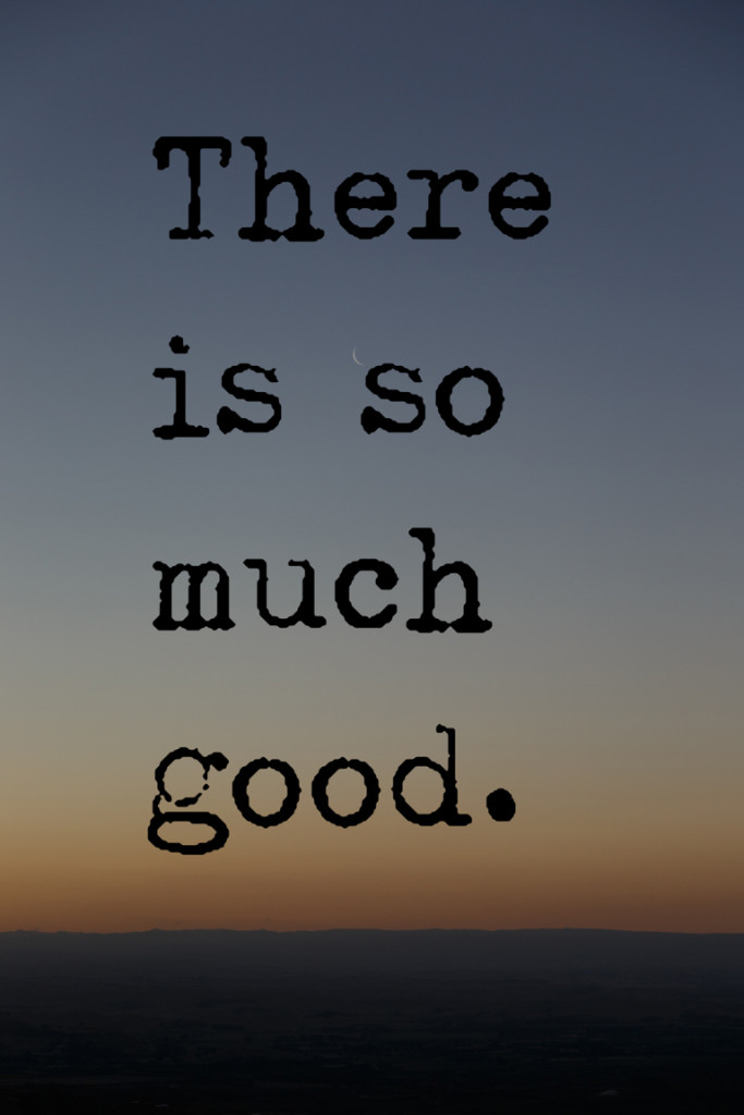 Change is hard. So let's focus on the good.